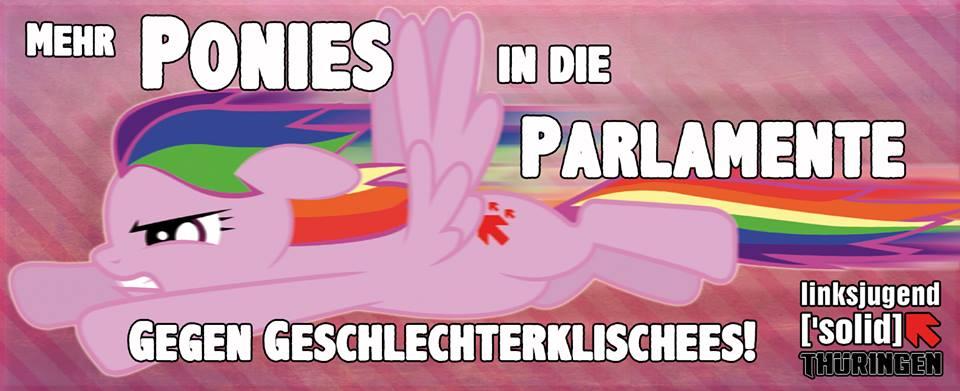Aufkleber: Mehr Ponies in die Parlamente!